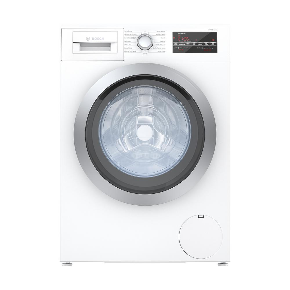 800 Series 24 in. 2.2 cu. ft. White with Chrome Accents High-Efficiency