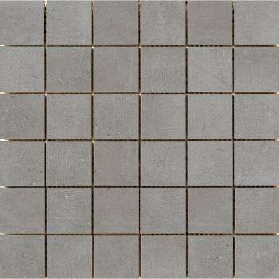 Uptown Hamilton 11.81 in. x 11.81 in. x 9mm Porcelain Mesh-Mounted Mosaic Tile (0.97 sq. ft.)
