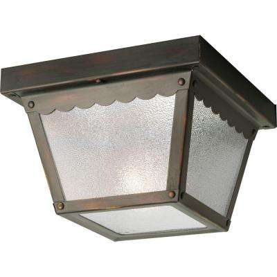 Antique Bronze Outdoor Flushmount