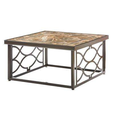Richmond Hill Heather Slate 38 In Square Outdoor Coffee Table