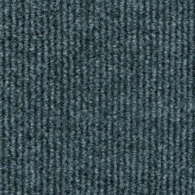 Sisteron Sky Grey Wide Wale Texture 18 in. x 18 in. Indoor/Outdoor Carpet Tile (10 Tiles/Case)