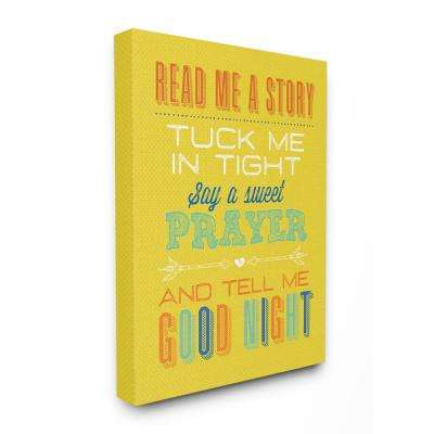 "16 in. x 20 in. ""Bright Yellow Read Me A Story Mod Lettered Typography"" by Tammy Apple Canvas Wall Art"