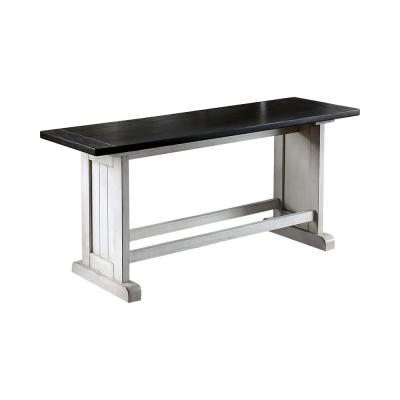 Wellesley Espresso Trestle Counter Height Bench