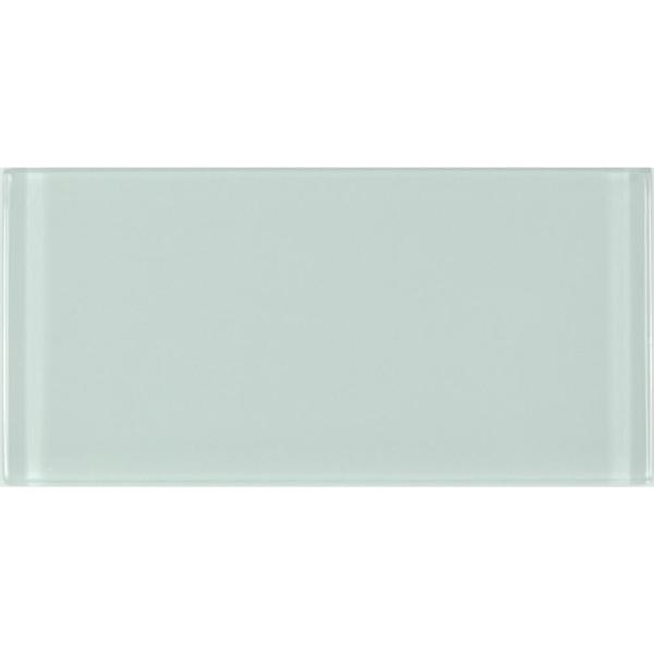 Metro Arctic Blue Subway 3 in. x 6 in. Glossy Glass Wall Tile (10 sq. ft. / case)