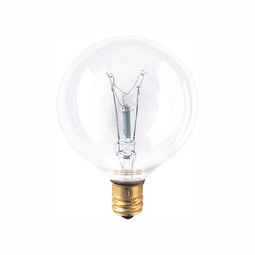 Bulbrite Bulbrite 15-Watt G16.5 String Bulb Replacement Dimmable Warm White Light Incandescent Light Bulb (25-Pack)