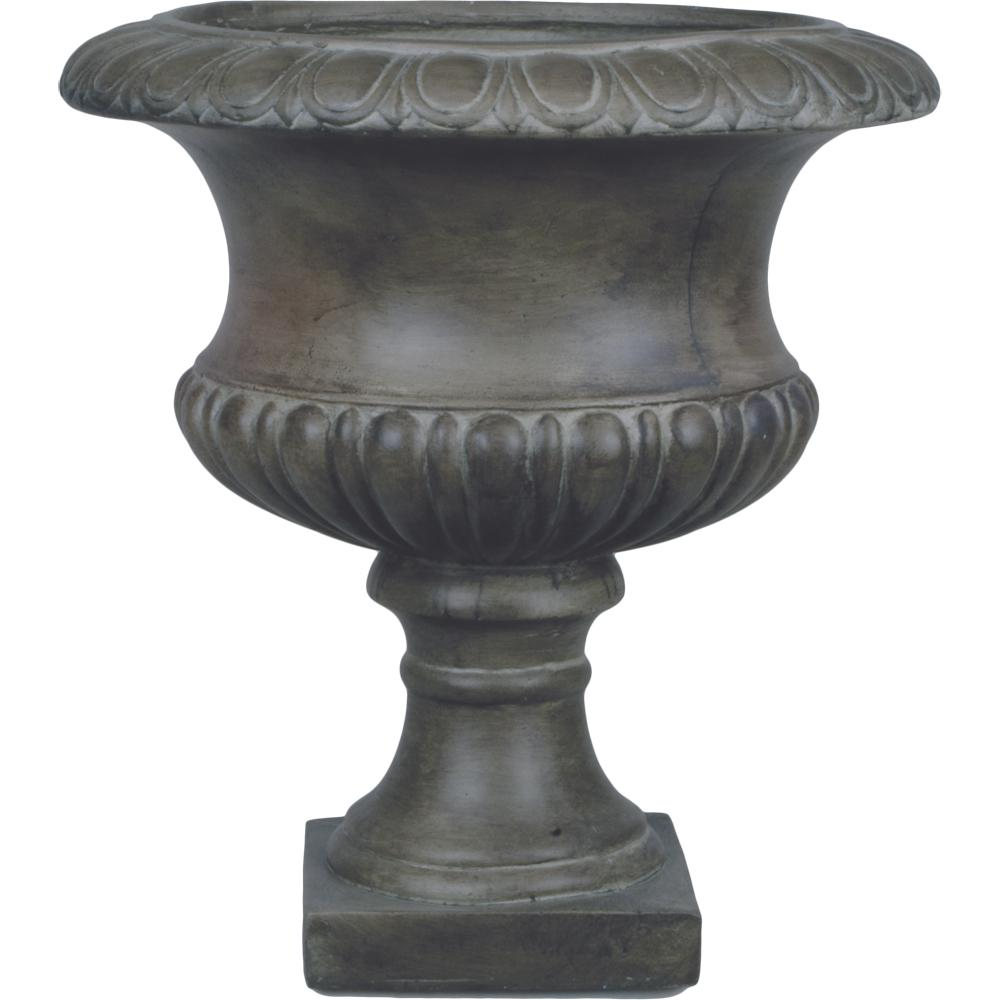 Clay planters pots planters the home depot origins classic 19 in pewter short urn planter reviewsmspy