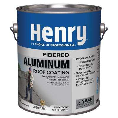0.90 Gal 555 Fibered Aluminum Roof Coating