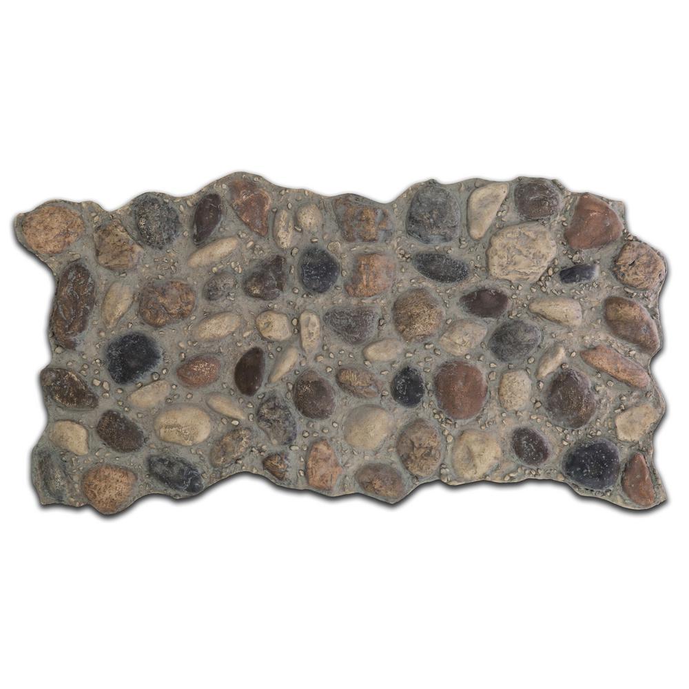 51 in. x 27 in. Polyurethane River Rock Faux Stone Panel in Sedona