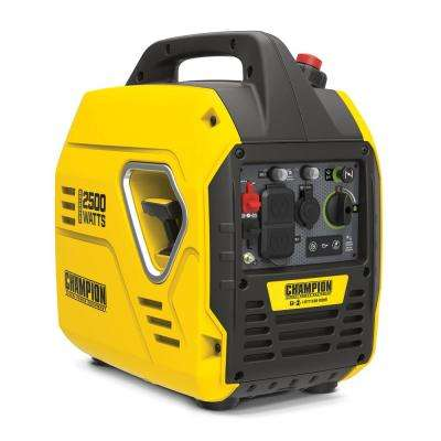 2500-Watt Gasoline Powered Recoil Start Inverter Generator with Champion 79 cc Engine