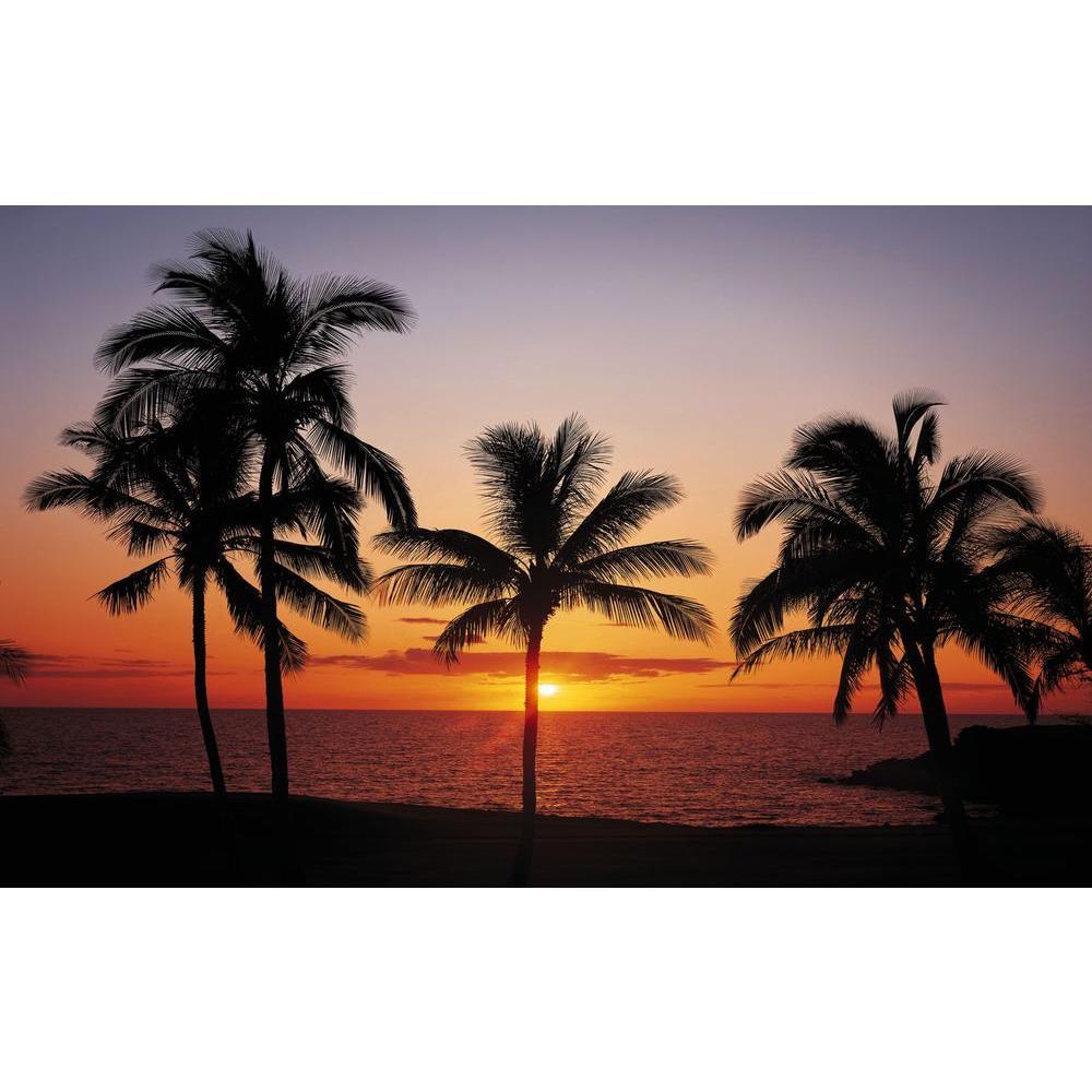 null 100 in. x 145 in. Hawaiian Sunset Mural