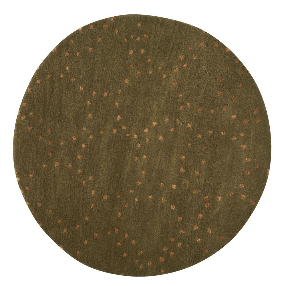Home Decorators Collection Halo Green 5 ft. 5 in. Round Area Rug