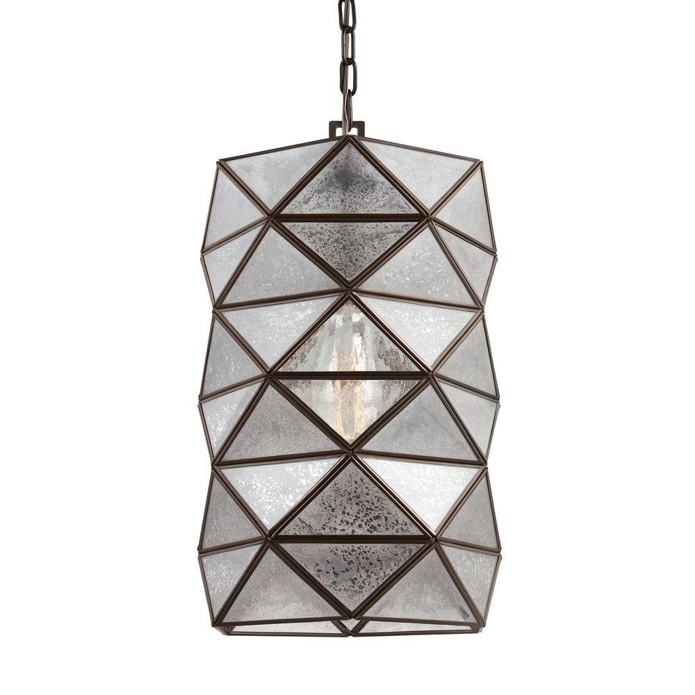 Sea Gull Lighting Harambee 12 In W 1 Light Heirloom Bronze Indoor Pendant