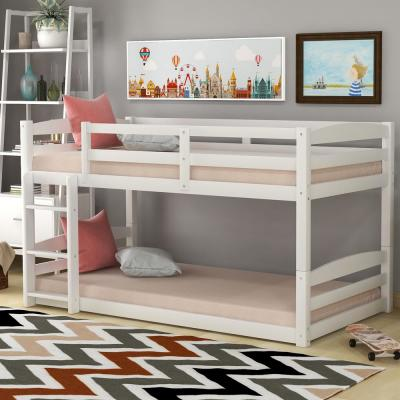 White High Quality Twin Over Twin Bunk Bed