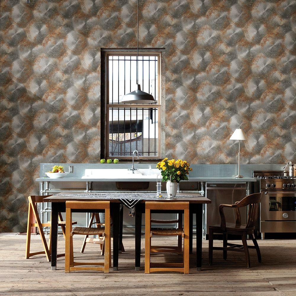 Silver Tarnished Metal Metallic Texture Wallpaper