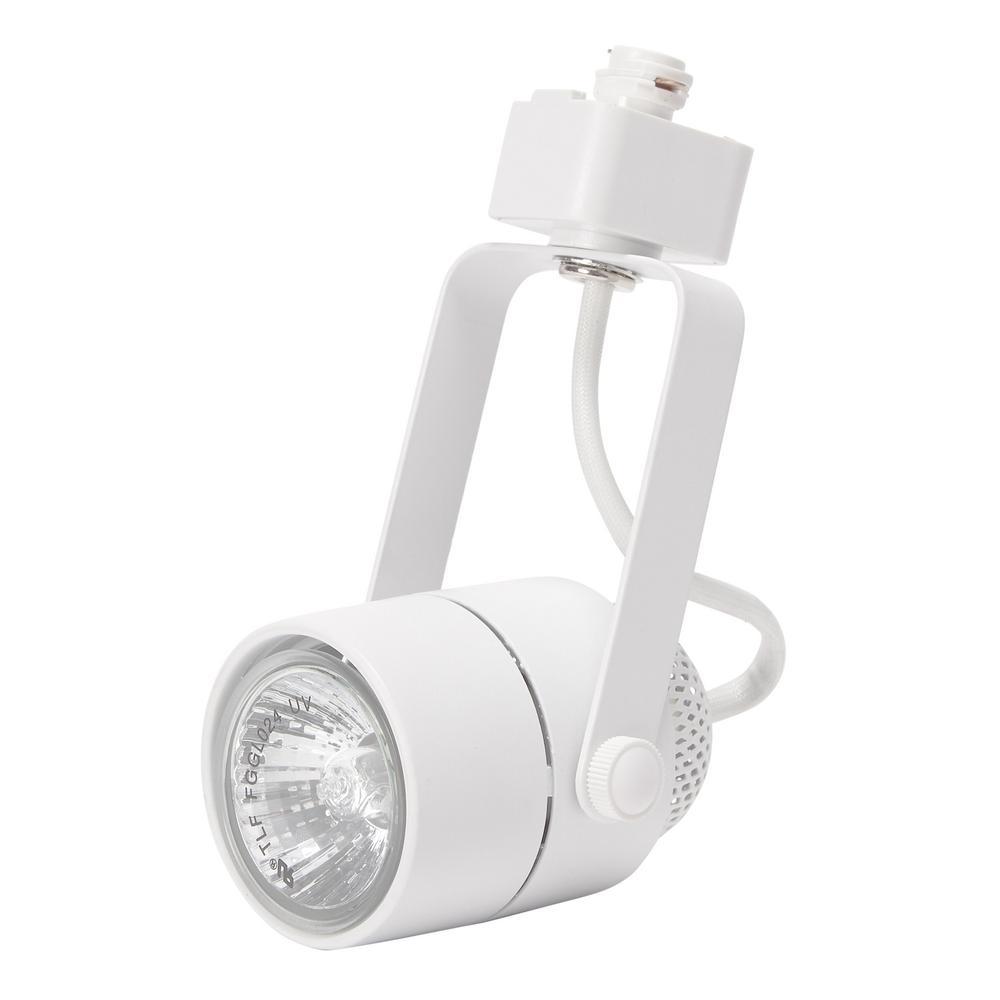 120-Volt White Pinhole Cylinder Linear Track Lighting Head