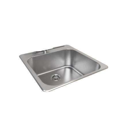 Drop-In Stainless Steel 21 in. 1-Hole Single Bowl Kitchen Sink