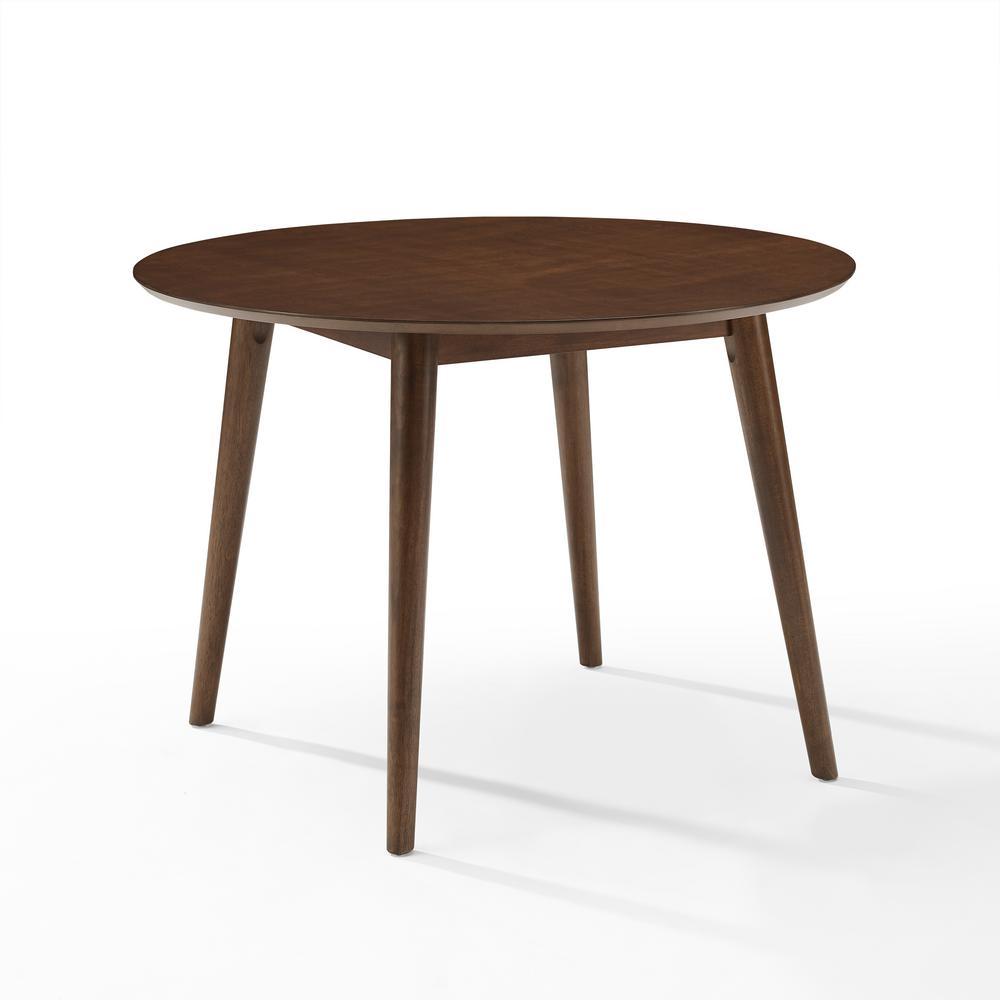 Crosley Furniture Landon Mahogany Round Dining Table Cf2009 Ma The Home Depot