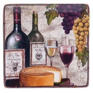 The Wine Tasting Collection 12.25 Square Platter by