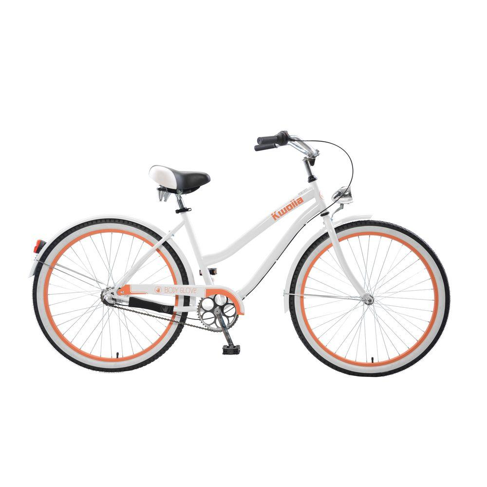 Kwolla Cruiser 26 in. Wheels Oversized Frame Women's Bike in White