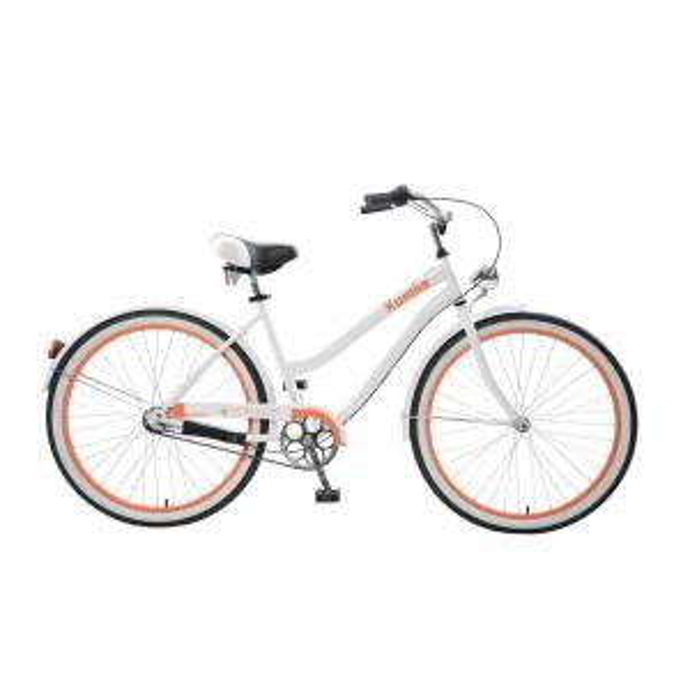 Body Glove Kwolla Cruiser 26 inch Wheels Oversized Frame Women's Bike in White by Body Glove