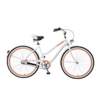 Kwolla Cruiser 26 in. Wheels Oversized Frame Women's Bike in White