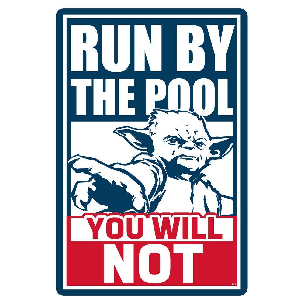 Blue Wave 12 in. x 18 in. Star Wars Yoda Pool Sign