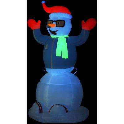 6 ft. Animated Inflatable Neon Snowman