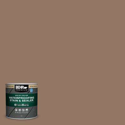 8 oz. #SC-147 Castle Gray Solid Color Waterproofing Exterior Wood Stain and Sealer Sample