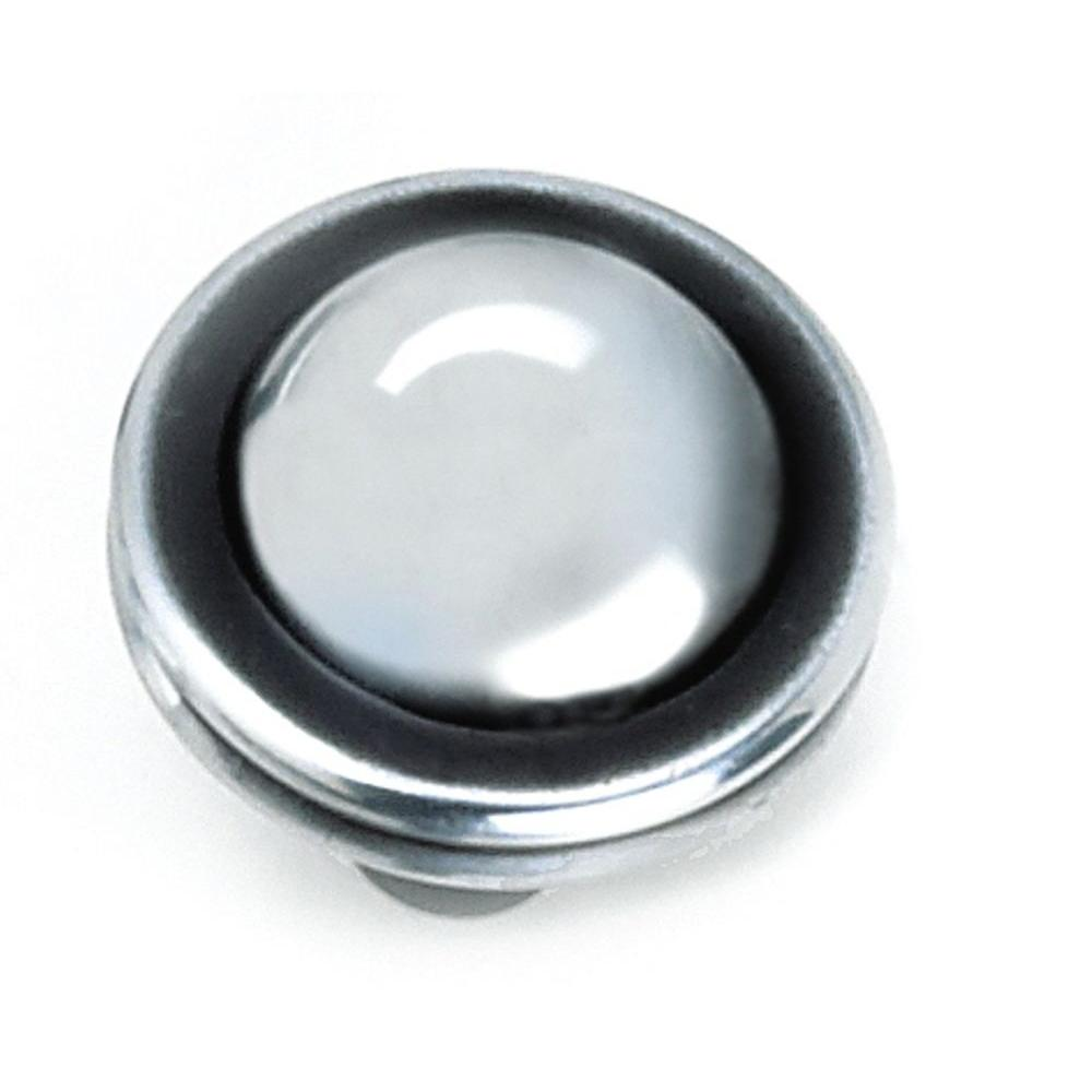 Laurey 1-1/4 in. Antique Silver Cabinet Knob-23860 - The Home Depot