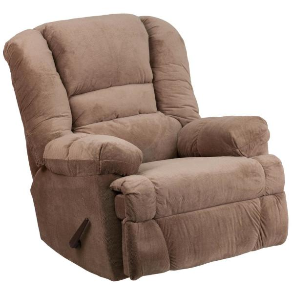 Contemporary Dynasty Camel Microfiber Rocker Recliner By Flash Furniture