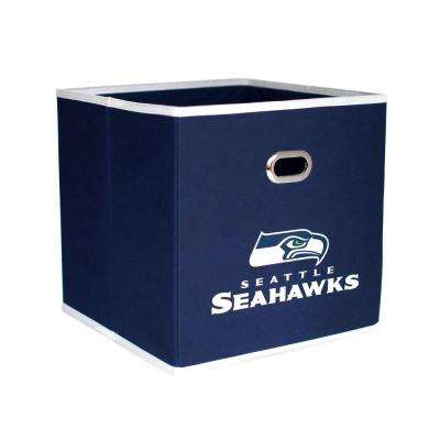 Seattle Seahawks NFL Store-Its 10-1/2 in. W x 10-1/2 in. H x 11 in. D Navy Blue Fabric Drawer