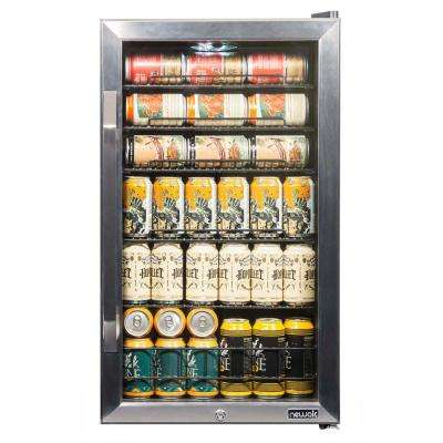 19 in. 126 Can Freestanding Beverage Cooler