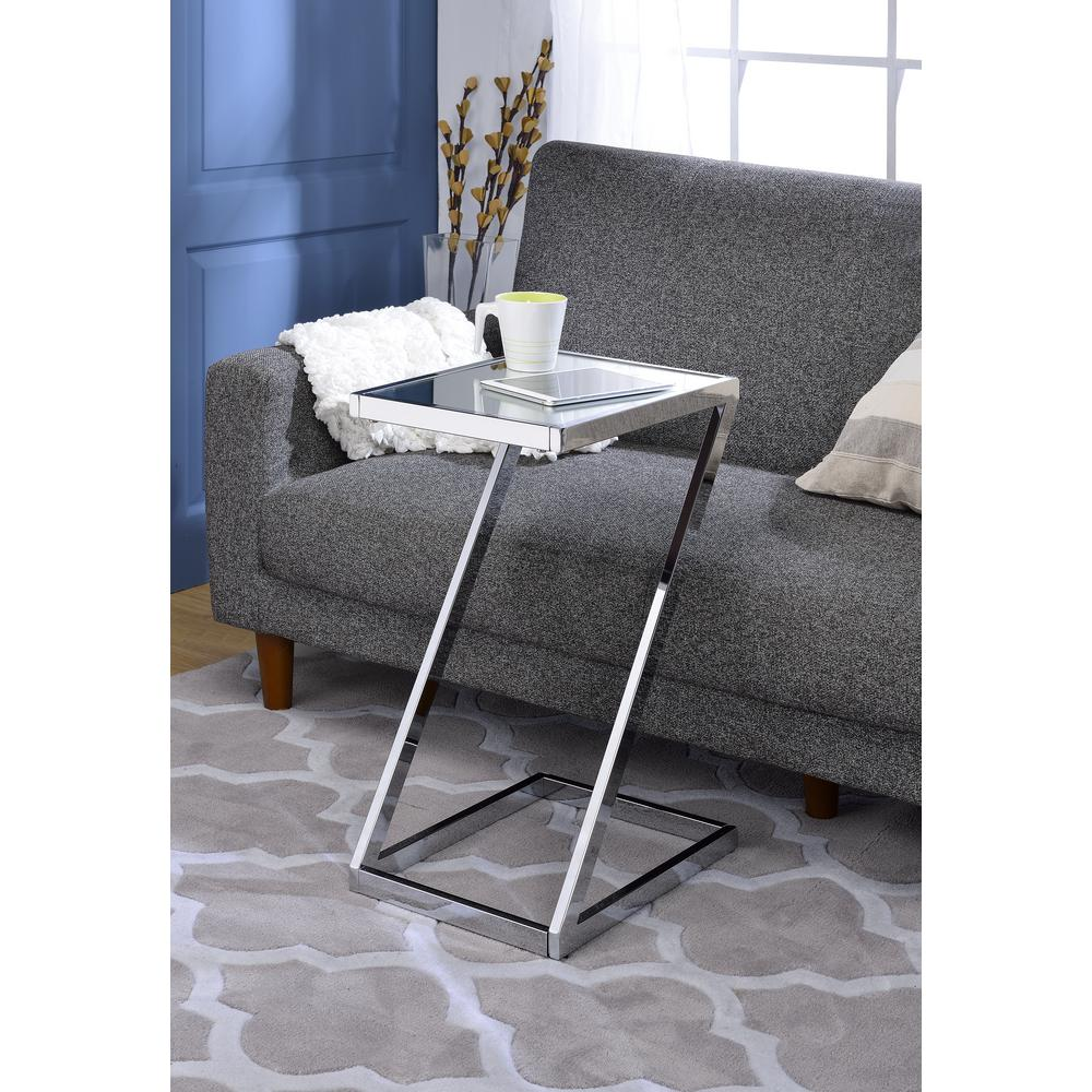 Laina Side Table, Mirror and Chrome