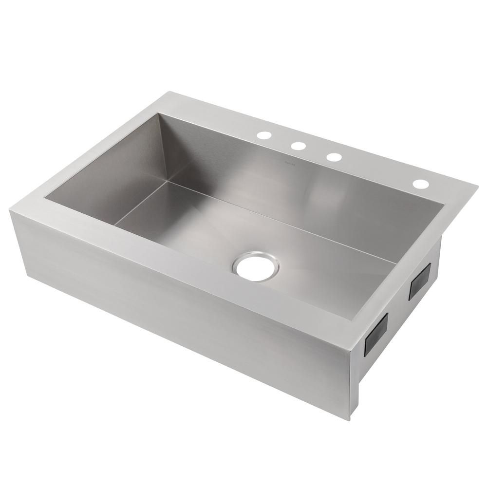 KOHLER Vault Farmhouse Apron Front Stainless Steel 36 In. 1 Hole Single  Bowl Kitchen Sink K 3942 1 NA   The Home Depot