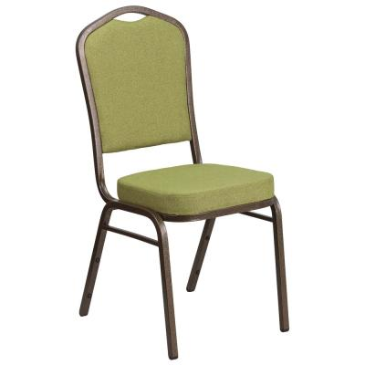Moss Fabric/Gold Vein Frame Stack Chair