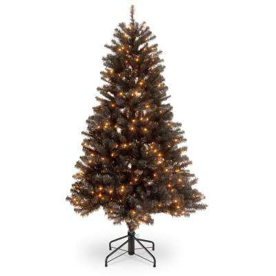 4-1/2 in. North Valley Black Spruce Hinged Tree with 200 Clear Lights