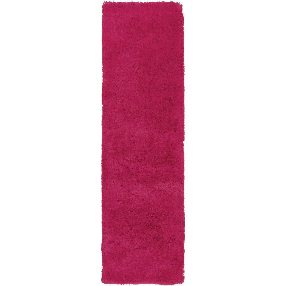 surprising Hot Pink Runner Rug Part - 6: Artistic Weavers Viniani Hot Pink 2 ft. x 8 ft. Indoor Runner Rug