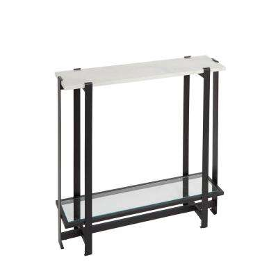 Moira Black and Marble Console Table