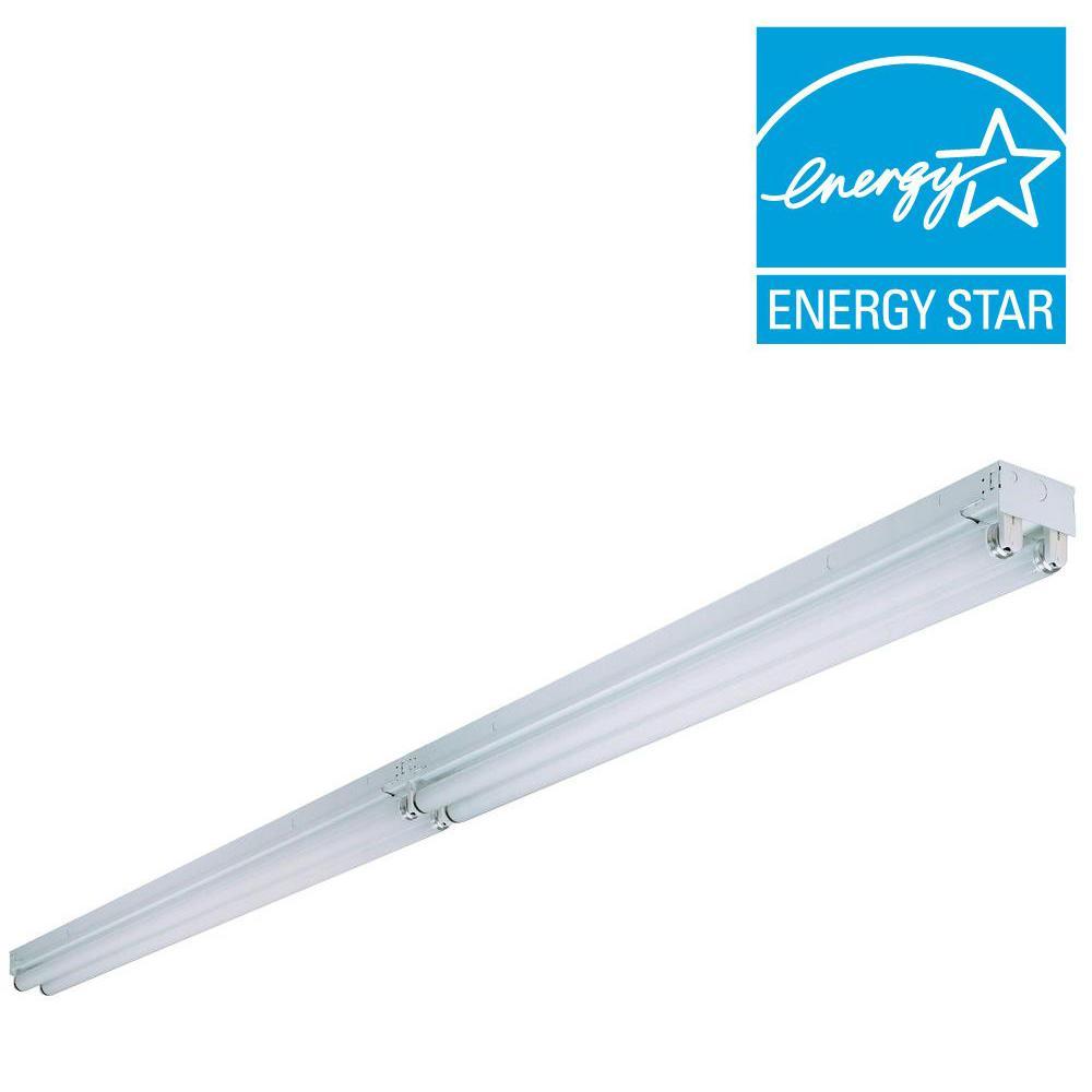 Tandem 4-Light White Fluorescent Electronic Ceiling Strip Flushmount