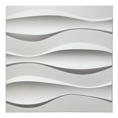 19.7 in. x 19.7 in. White PVC 3D Wall Panels for Interior Wall Decor (12-Sheet)