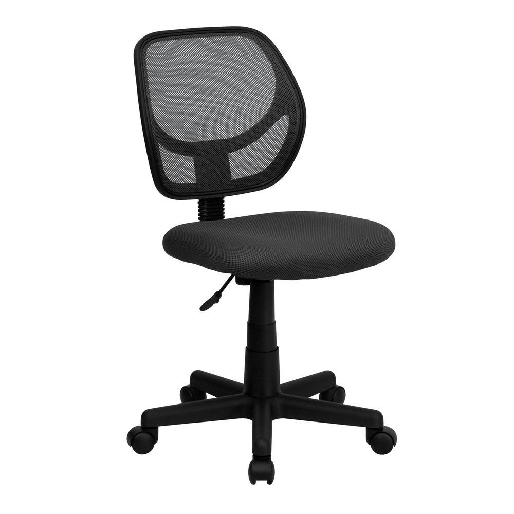 Gray Mesh Swivel Task Chair
