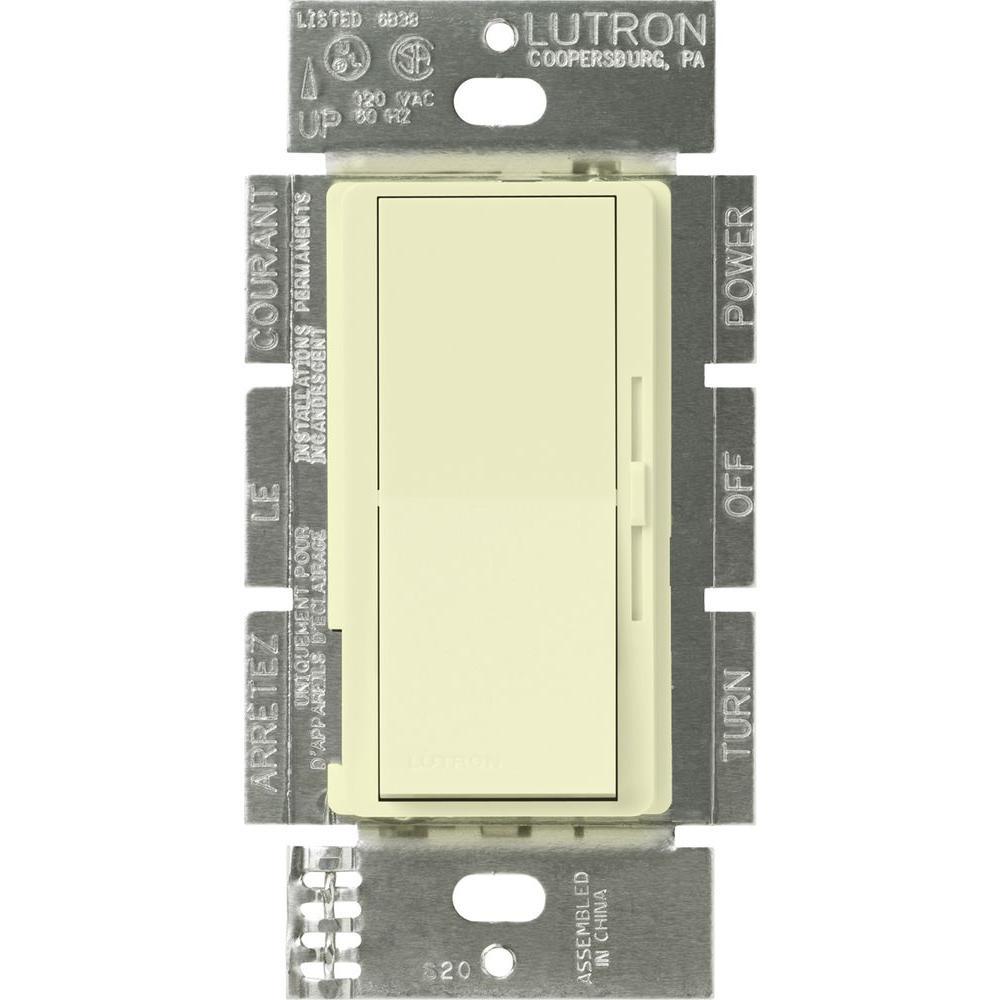 Diva Dimmer for 0-10V LED/Fluourescent Fixtures, 8-Amp, Single-Pole or 3-Way, Almond