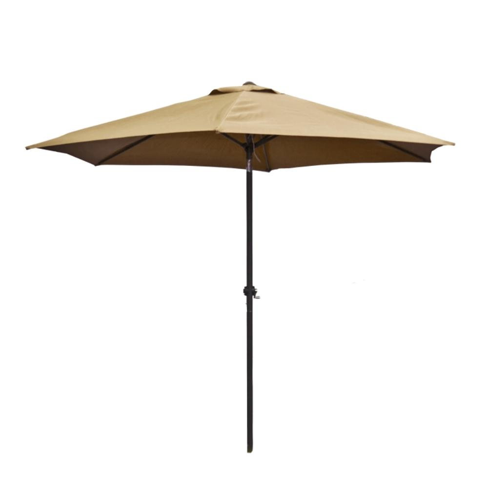 9 ft. Steel Market Patio Umbrella in Sand