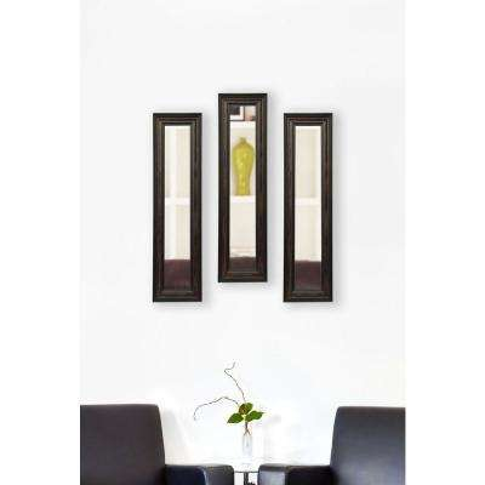 10 in. x 28 in. American Walnut Vanity Mirror (Set of 3-Panels)