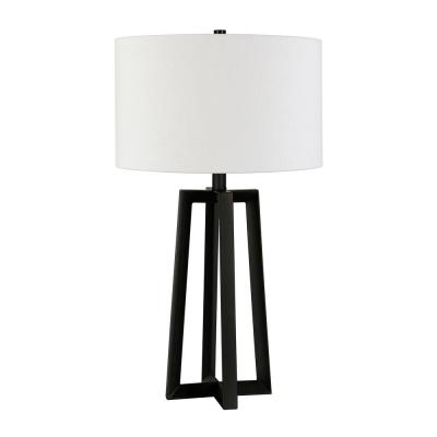 Woodrow 24-1/2 in. Blackened Bronze Table Lamp