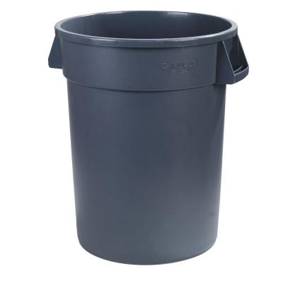Bronco 44 Gal. Gray Round Trash Can (3-Pack)