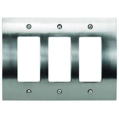 Zephyr 3 Rocker Metal Wall Plate - Brushed Nickel