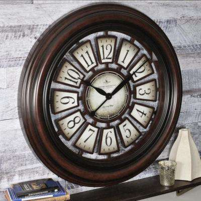 29 in. Round Majestic Hollow Wall Clock