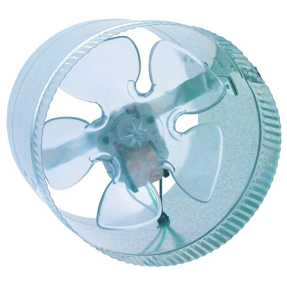 null Inductor 8 in. In-Line Duct Booster Fan