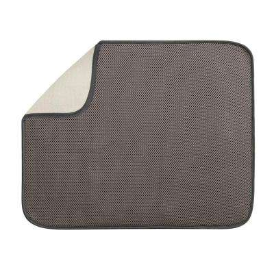 iDry Large 18 in. x 16 in. Kitchen Mat Solid in Mocha